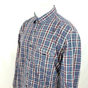 Lucky Brand Mens Button-Front Shirt Sz XL Plaid